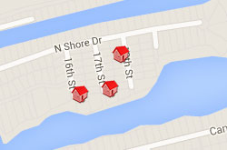 Map of Properties 16th to 19th Street