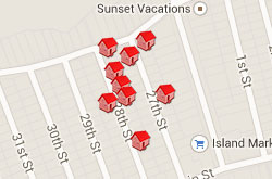 Map of Properties 27th to 29th Street