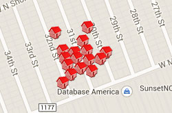 Map of Properties 30th to 32nd Street