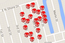 Map of Properties 4th to 6th Street