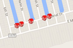 Map of Properties 7th to 12th Street 3rd Row