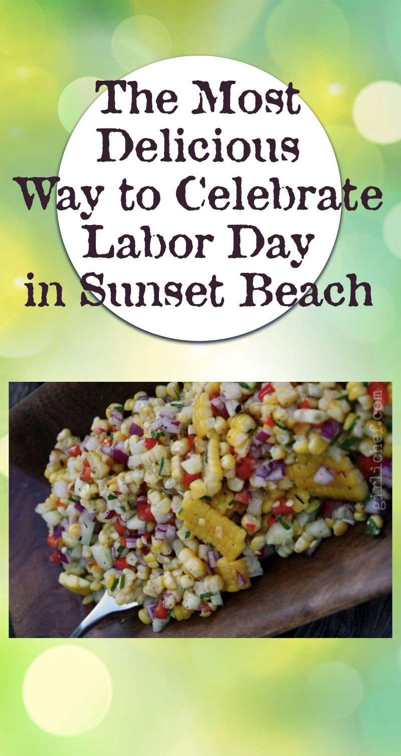 Celebrate Labor Day in Sunset Beach Pin