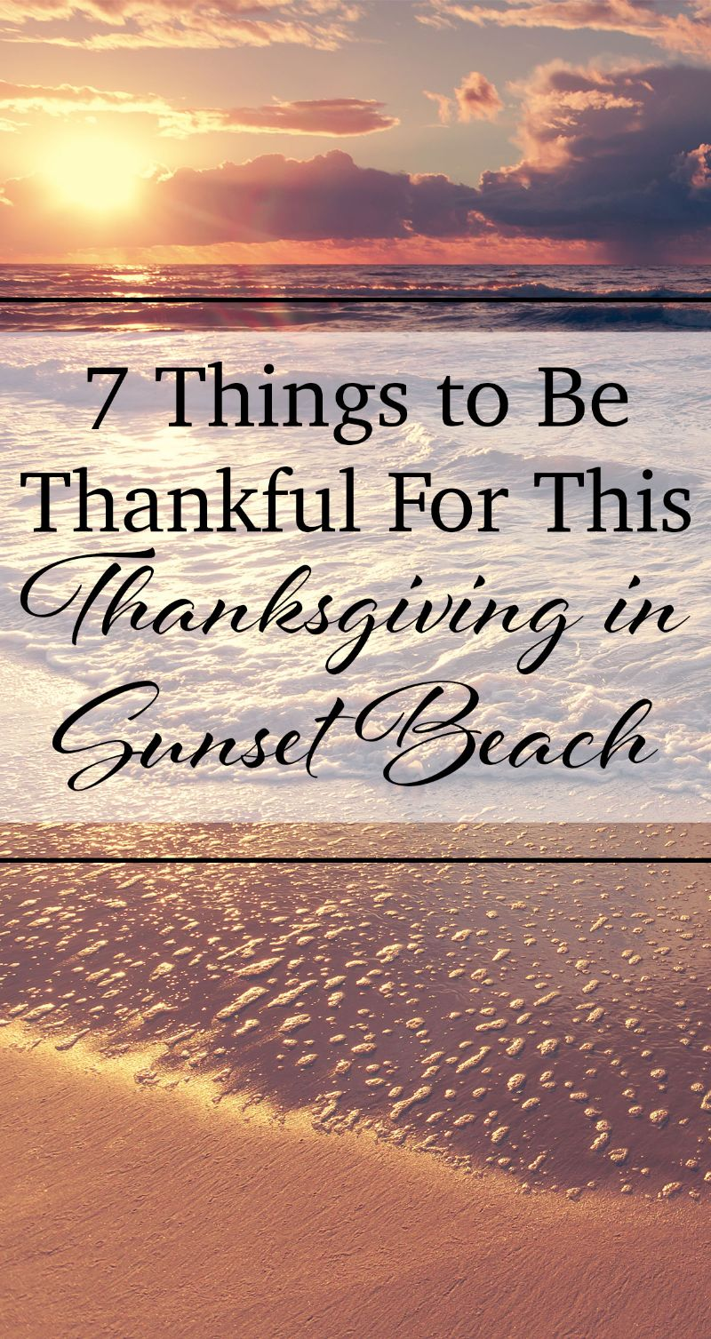 Thanksgiving in Sunset Beach Pin