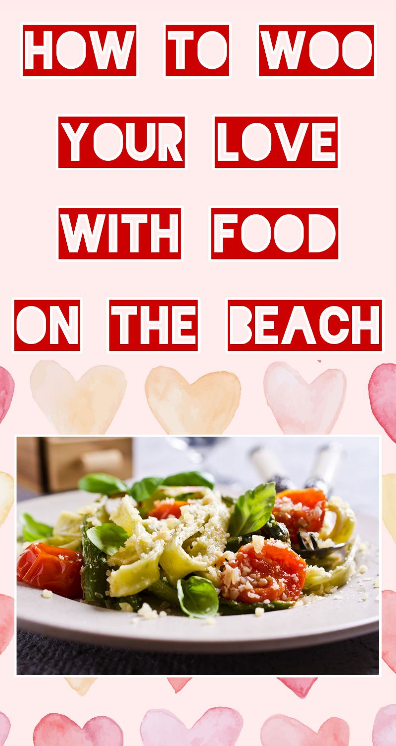 Woo Your Love with Food on the Beach Pin