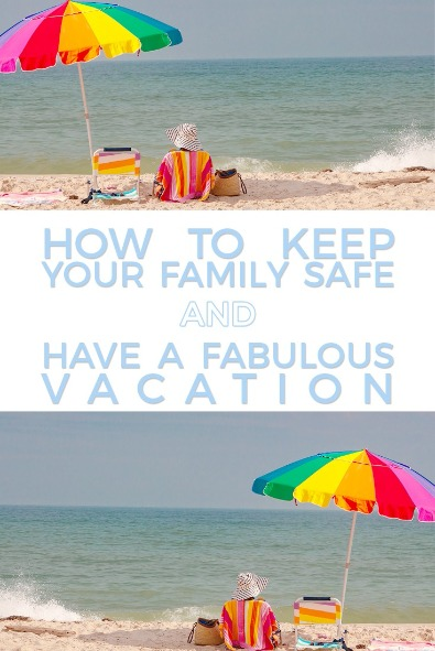 Safe and Fabulous Vacation Pin