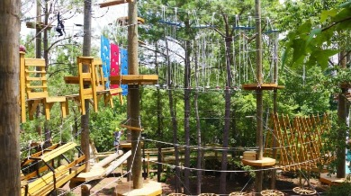 rope course at Shallotte River Swamp Park | Sunset Vacations