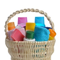 basket of toiletries | Sunset Vacations