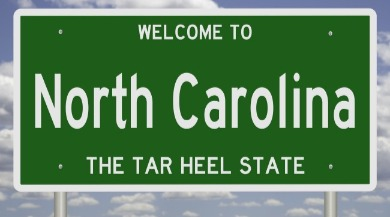 welcome to North Carolina sign | Sunset Vacations