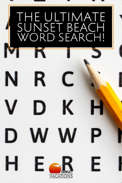 The Ultimate Sunset Beach Word Search!