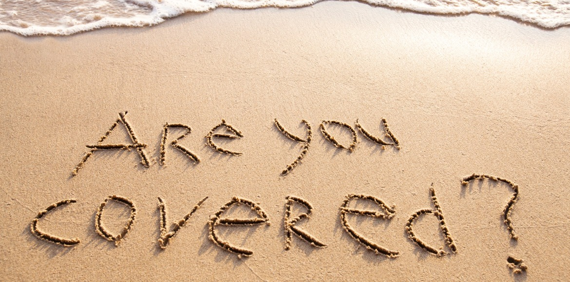are you covered written in the sand | Sunset Vacations