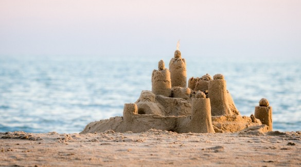 sandcastle on the beach | Sunset Vacations
