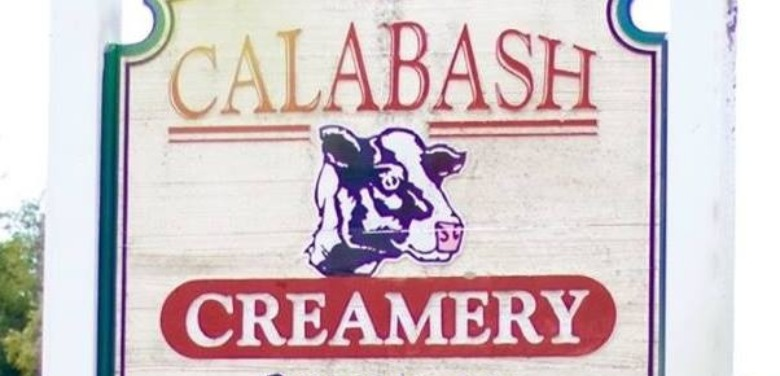 sign for Calabash Creamers in Sunset Beach | Sunset Vacations