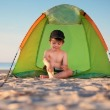 Toddler in Tent | Sunset Vacations